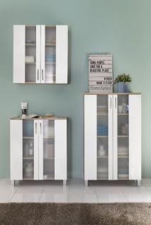 Badmobel Badezimmerschranke Porto Set 3 Teilig Weiss Eiche Kaufen