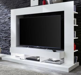 """Medienwand weiss Glanz Fernsehschrank 164 cm ca. 55"""" TV-/HiFi Möbel TTX05"""
