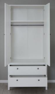 Babyzimmer Ole komplett Set 4-teilig weiß mit Wickelkommode Babybett Kleiderschrank und Wandregal - Vorschau 5