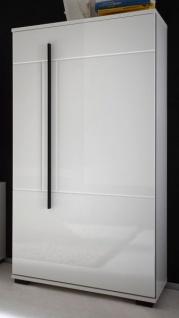 """Kommode """" Design-D"""" in Hochglanz weiß Anrichte 60 x 126 cm"""