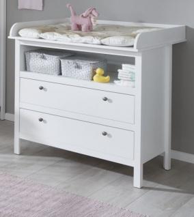 Babyzimmer Ole komplett Set 3-teilig weiß mit Wickelkommode Babybett und XXL Kleiderschrank - Vorschau 2