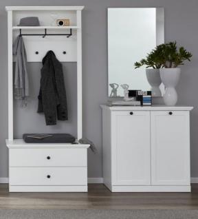 Garderobe Baxter 3-teilig in weiß Landhaus Garderobenset mit ...