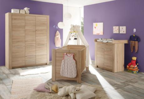 Babyzimmer Carlotta komplett 3-teilig Eiche sägerau