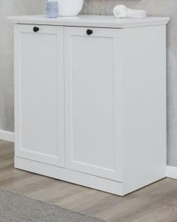Kommode Baxter in weiß Landhaus Schuhschrank für Flur und Diele 81 x 88 cm