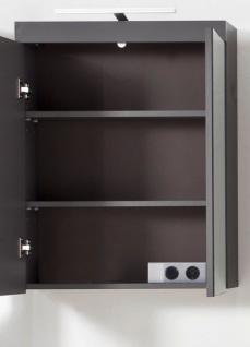 Badmöbel Spiegelschrank Amanda in Hochglanz grau Badschrank 2-türig 60 x 77 cm - Vorschau 5