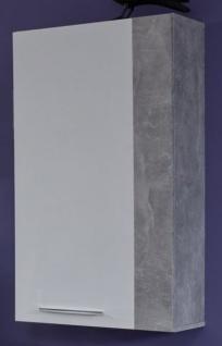 Hängeschrank Rock in weiß Hochglanz und Stone grau 52 x 103 cm ...