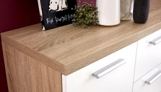 sideboard kommode bravo in wei dekor und eiche s gerau. Black Bedroom Furniture Sets. Home Design Ideas