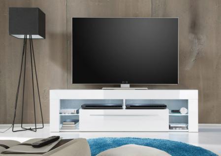 Lowboard TV-Unterteil TV-Board COUNT weiß Hochglanz 153 x 44 cm