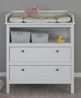 Wickelkommode in Landhaus weiß Wickeltisch 90x104 cm Babymöbel Ole - wahlweise als Set mit Wandregal - Vorschau 2