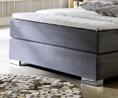 boxspringbett hotelbett jordan graphit grau 140 x 200 cm 5 gang bonell federkern matratze. Black Bedroom Furniture Sets. Home Design Ideas