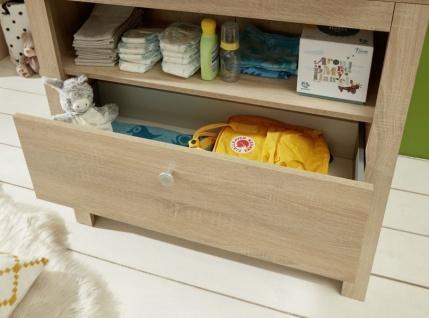 Babyzimmer Olivia komplett Set 3-teilig in Sonoma Eiche hell sägerau mit Wickelkommode Kleiderschrank und Babybett - Vorschau 2