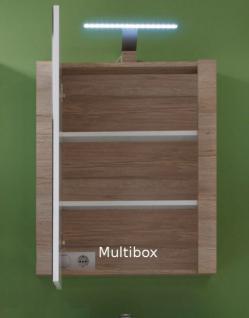 Badezimmer Spiegelschrank Amanda inkl. LED Beleuchtung Hochglanz weiß tiefgezogen 2-türig - Vorschau 3