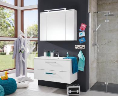 Spiegelschrank Schrank Adamo weiß Hochglanz tiefzieh Breite 100 cm - Vorschau 4