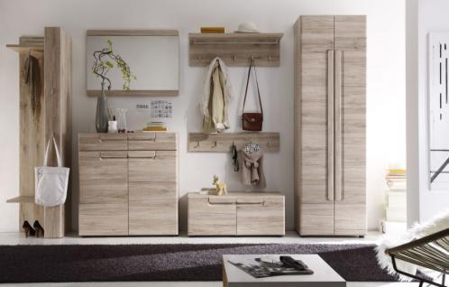 Garderobe Flurmöbel Set Garderobenset Malea 7-teilig Eiche San Remo hell 328 x 191 x 38 cm