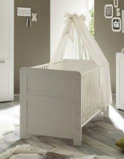 Babyzimmer Babybett Kinderbett Landi Anderson Pinie weiß 76 x 84 x 144 cm