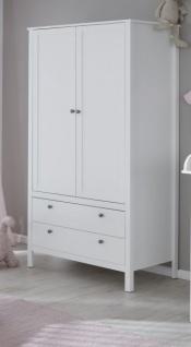 Babyzimmer Ole komplett Set 4-teilig weiß mit Wickelkommode Babybett Kleiderschrank und Wandregal - Vorschau 4