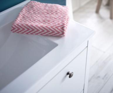 Badmöbel Set Ole weiß Landhaus 3-teilig komplett mit Keramik-Waschbecken - Vorschau 3