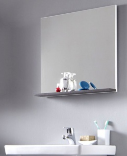 Badezimmerspiegel 60x60.Badmobel Spiegel California In Weiss Und Sardegna Grau Rauchsilber Badspiegel Mit Ablage 60 X 60 Cm Kaufen Bei Oe Online Einrichten Gmbh