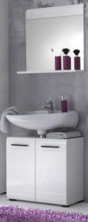Badmöbel Set Skin in Hochglanz weiß Badkombination 2-teilig Badezimmer 60 x 182 cm