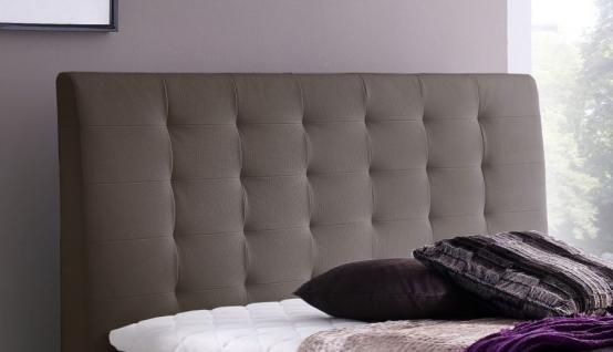 Boxspringbett Claudine 160 x 200 cm Leder Optik braun 5-Gang-Bonell Federkern Matratze Hotelbett - Vorschau 2