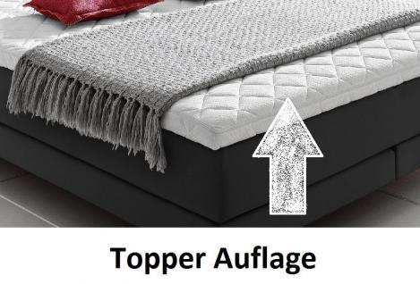 Boxspringbett Claudine 160 x 200 cm Leder Optik schwarz 5-Gang-Bonell Federkern Matratze Hotelbett - Vorschau 5