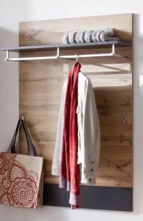 gaderobenpaneel coast in wotan eiche dekor und grau. Black Bedroom Furniture Sets. Home Design Ideas