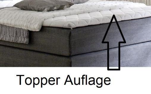 Boxspringbett Hotelbett Jordan graphit grau 140 x 200 cm Taschenfederkern Matratze - Vorschau 5