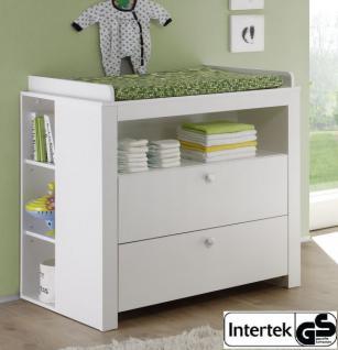 Babyzimmer Wickelkommode Olivia mit Regal weiß 96 x 102 x 76 cm