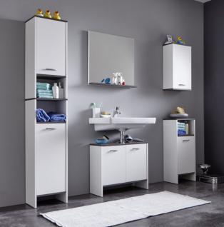 badezimmer spiegel wei und sardegna grau mit ablage california 60x60 cm kaufen bei oe online. Black Bedroom Furniture Sets. Home Design Ideas
