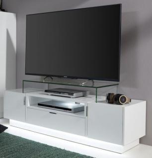 TV-Unterteil Lowboard Atlanta in Hochglanz weiß 140 x 38 cm