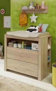 Babyzimmer Olivia komplett Set 3-teilig in Sonoma Eiche hell sägerau mit Wickelkommode Kleiderschrank und Babybett - Vorschau 4