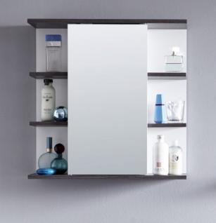 Badezimmer Spiegelschrank California weiß und Sardegna grau 60 cm ...