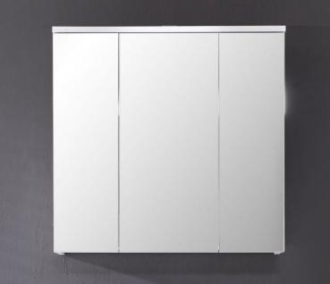 Spiegelschrank Badezimmer Xara 3 türig weiß glänzend 70 x 77 cm