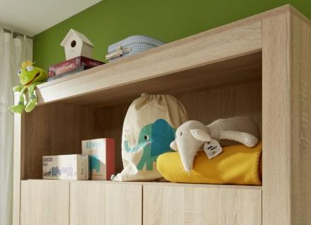 Babyzimmer Olivia komplett Set 3-teilig in Sonoma Eiche hell sägerau mit Wickelkommode Kleiderschrank und Babybett - Vorschau 3