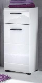 Badezimmer Unterschrank Skin in Hochglanz weiß Badschrank 30 x 79 cm Badmöbel Kommode