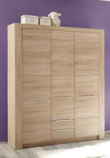 Kleiderschrank Babyzimmer Carlotta 3-türig Eiche sägerau - Vorschau 1