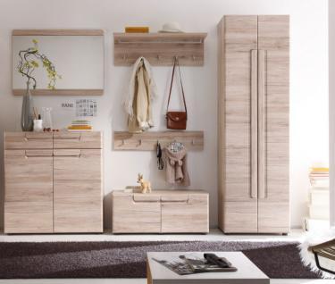 Garderobenset Flurmöbel Set Garderobe Malea 6-teilig Eiche San Remo hell 278 x 191 x 38 cm