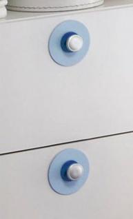 Filz-Applikationen blau 5er Set für Babyzimmer Olivia Kleiderschrank und Wickelkommode