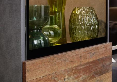 Wohnwand Mango in Old Used Wood Shabby Design mit Matera grau Schrankwand 5-teilig 231 x 182 cm - Vorschau 3