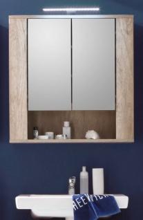 """Badezimmer: Spiegelschrank """" Star"""" Eiche (70x75 cm) mit Ablage"""