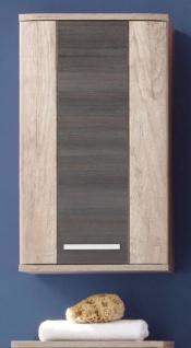 Badezimmer Hängeschrank Star in Monument Eiche hell mit Touchwood dunkel Badmöbel 40 x 75 cm Badschrank