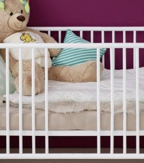 Babyzimmer Olivia in weiß komplett Set 3-teilig mit Wickelkommode Kleiderschrank und Babybett - Vorschau 5