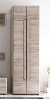 Garderobenschrank Flurschrank Malea Eiche San Remo hell 60 x 191 cm