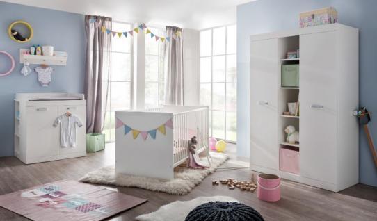 Schön Babyzimmer Komplett Set Ronja In Weiß 5 Teilig Mit Unterbauregal Und  Wandregal