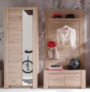 Garderobe Garderobenkombination Cougar San Remo Eiche hell 3-teilig