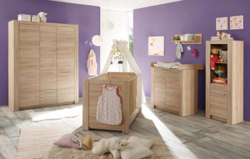 Kleiderschrank Babyzimmer Carlotta 3-türig Eiche sägerau - Vorschau 2