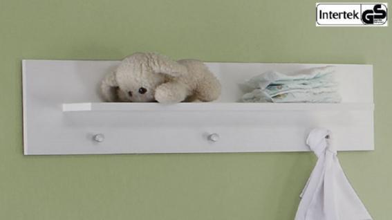 Babyzimmer Wandregal Wandboard Olivia weiß 75 x 20 cm