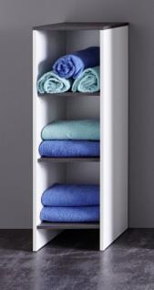 Badezimmer Kommode California weiß und Sardegna grau / Rauchsilber Standschrank