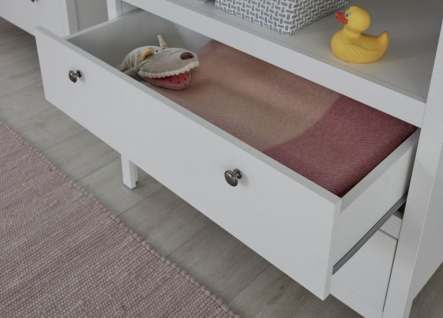 Wickelkommode in Landhaus weiß Wickeltisch 90x104 cm Babymöbel Ole - wahlweise als Set mit Wandregal - Vorschau 4