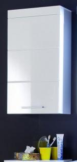 Badezimmer Hängeschrank Amanda in Hochglanz weiß Badschrank 37 x 77 cm Badmöbel